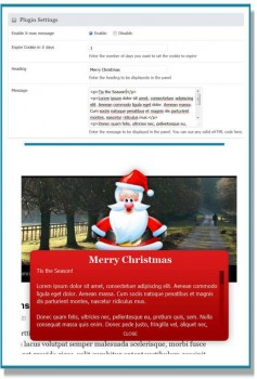 christmas message plugin