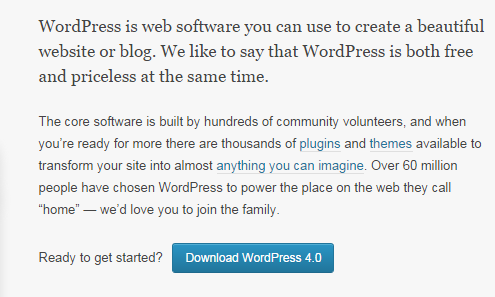 Tải WordPress 4.0