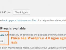 Phiên bản Wordpress 4.0